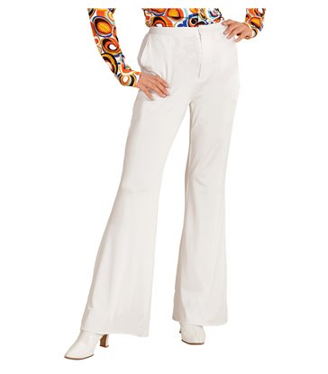 GROOVY 70s LADY PANTS - WHITE