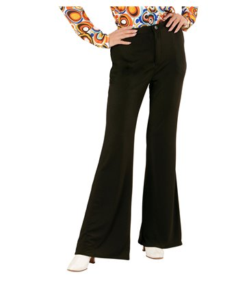 GROOVY 70s LADY PANTS - BLACK
