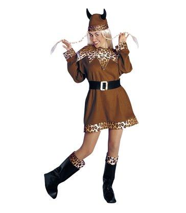 VIKING LADY COSTUME (dress belt boot covers helmet)
