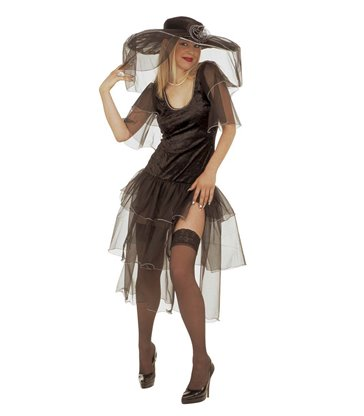 SPICY WIDOW COSTUME (dress and hat with veils)