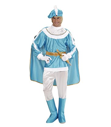 BLUE PRINCE (coat pants belt bootcovers cape hat)