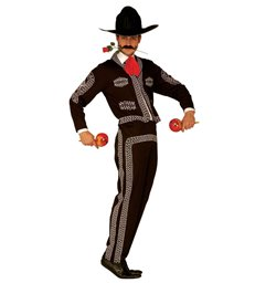 MARIACHI MAN COSTUME (jacket pants hat tie)