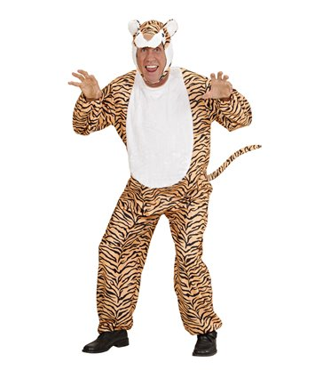 TIGER ANIMAL COSTUME (jumpsuit headpiece mask)