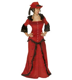 WESTERN LADY COSTUME (jacket skirt hat)