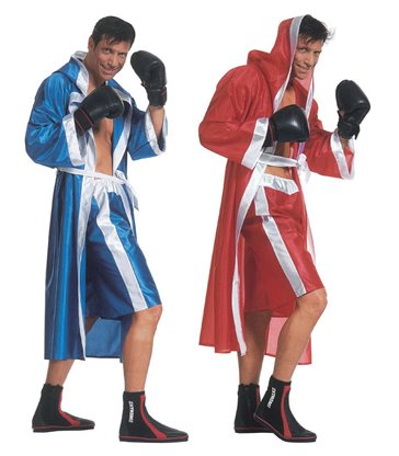 BOXER COSTUME red/blue (hooded cape belt shorts)