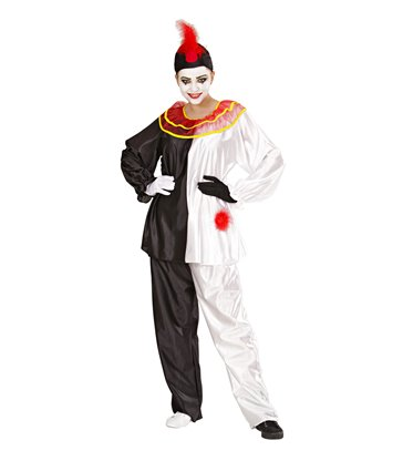 PIERROT COSTUME (coat with collar pants hat)