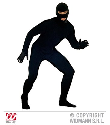 THIEF COSTUME (jumpsuit mask)