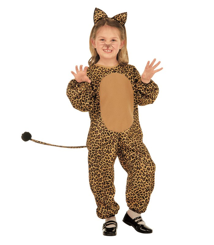 LITTLE LEOPARD COSTUME (2-3yrs/3-4yrs) (jumpsuit ears)