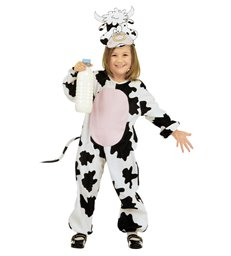 LITTLE COW COSTUME (2-3yrs/3-4yrs) (jumpsuit headpiece mask)