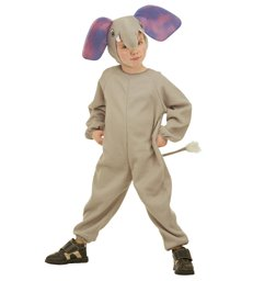 LITTLE ELEPHANT COSTUME (2-3yrs/3-4yrs) (jumpsuit headpiece)