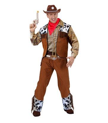 WESTERN COWBOY COSTUME (shirt vest pants belt bandana)