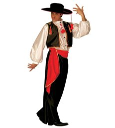 FLAMENCO DANCER COSTUME (shirt vest pants belt hat)
