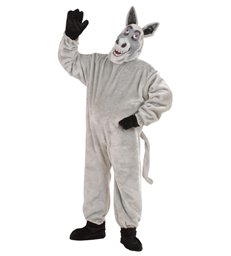 PLUSH DONKEY COSTUME (costume gloves shoe covers mask)