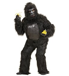 PLUSH GORILLA COSTUME (costume w/chestpiece hands feet mask)