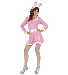 BUNNY DRESS - PINK (dress belt collar w/bow tie ears)