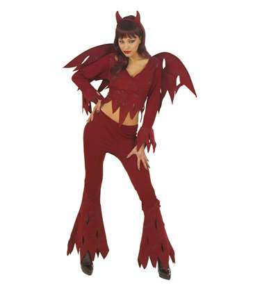 ROWDY DEVIL COSTUME (shirt pants wings horns)