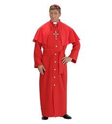 CARDINAL - RED - HEAVY FAB (robe tippet belt skull cap)