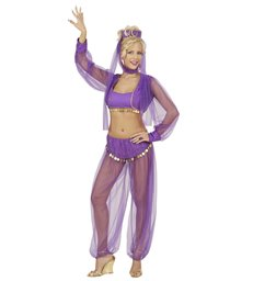 HAREM BEAUTY - PURPLE (top shirt w/vest pants headpiece)