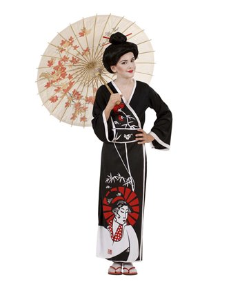 GEISHA COSTUME (kimono belt chopsticks) Childrens