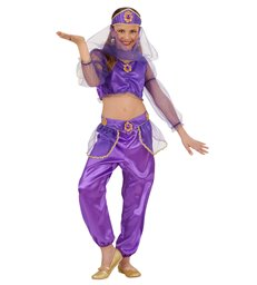 ODALISQUE PURPLE (shirt pants belt headpiece w/veil) Childrens