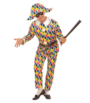 HARLEQUIN COSTUME (jacket pants belt hat)