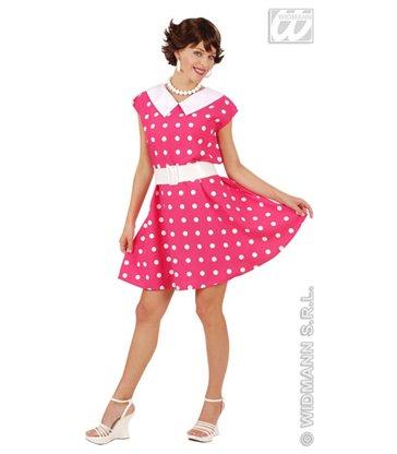 50s LADY DRESS & BELT - pink