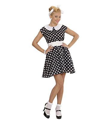 50s LADY - BLACK (dress w/petticoat belt)