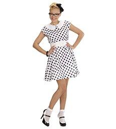 50s LADY - WHITE (dress w/petticoat belt)