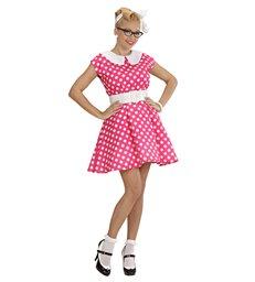 50s LADY - PINK (dress w/petticoat belt)