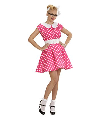 50s LADY - PINK (dress w/petticoat belt)