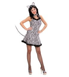 ZEBRA (dress w/tail bow tie ears)
