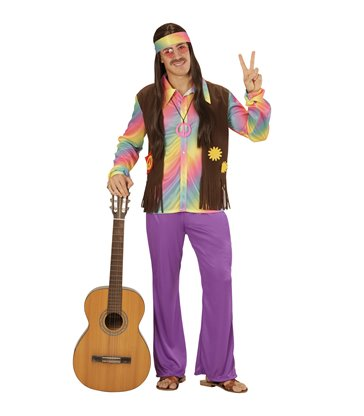 FUNKY HIPPIE MAN (shirt w/vest pants headband)
