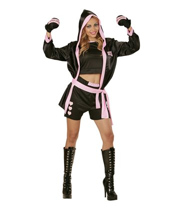 BOXER GIRL (top shorts hooded coat boxing gloves)