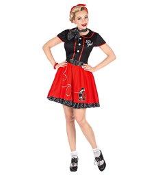50s GIRL (dress w/ petticoat belt neckscarf)
