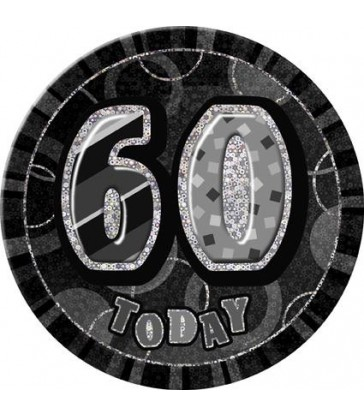 BLACK GLITZ 6'' BADGE- 60