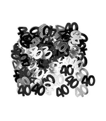 BLACK GLITZ 40 CONFETTI .5OZ