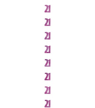 6 GLITZ PINK 21 HANGING DECOR 5FT