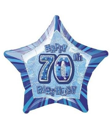 20'' PKG BLUE STAR PRISM 70 FOIL BALLOON
