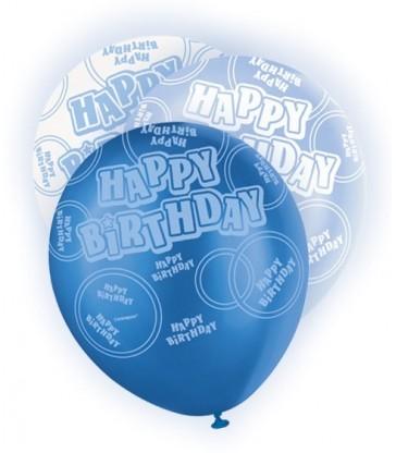 6 12'' BLUE HB GLITZ BALLOONS