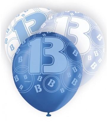 6 12'' BLUE GLITZ BALLOONS -13
