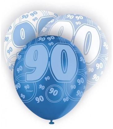 6 12'' BLUE GLITZ BALLOONS-90