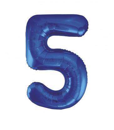 "34"" PKG BLUE GLITZ FOIL BALLOON-5"