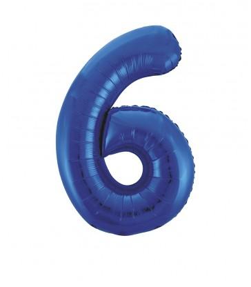 "34"" PKG BLUE GLITZ FOIL BALLOON-6"
