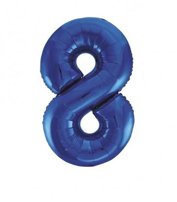 "34"" PKG BLUE GLITZ FOIL BALLOON-8"