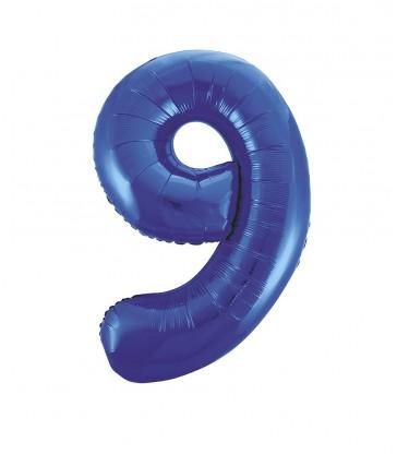 "34"" PKG BLUE GLITZ FOIL BALLOON-9"