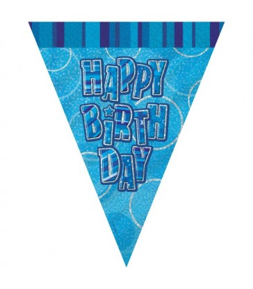 BLUE GLITZ HB FLAG BANNER-9FT