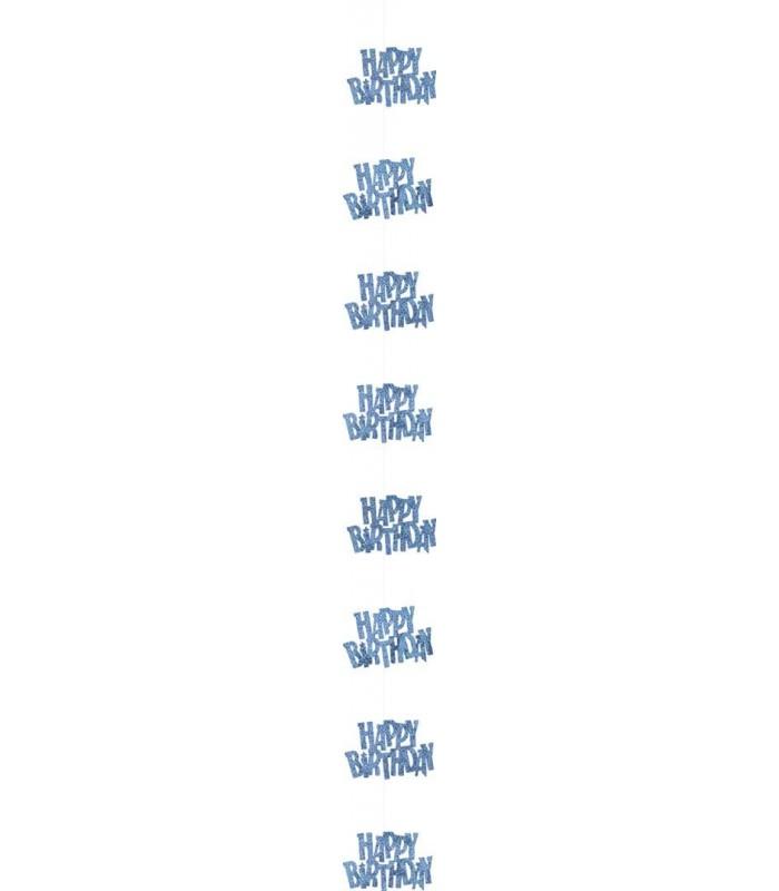 6 GLITZ BLUE HB HANGING DECOR 5FT