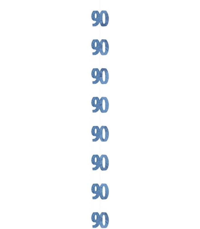 6 GLITZ BLUE 90 HANGING DECOR 5FT