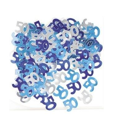 BLUE GLITZ 50 CONFETTI .5OZ