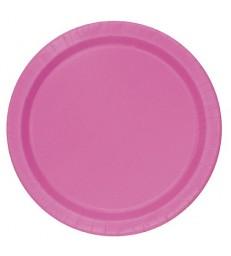 20 HOT PINK 7'' PLATES